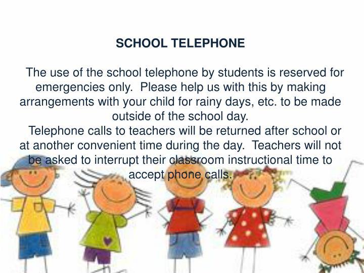 SCHOOL TELEPHONE