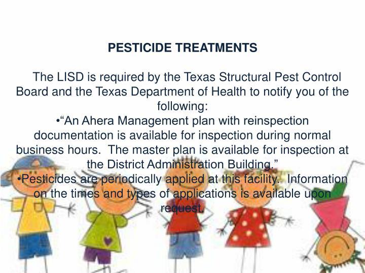 PESTICIDE TREATMENTS