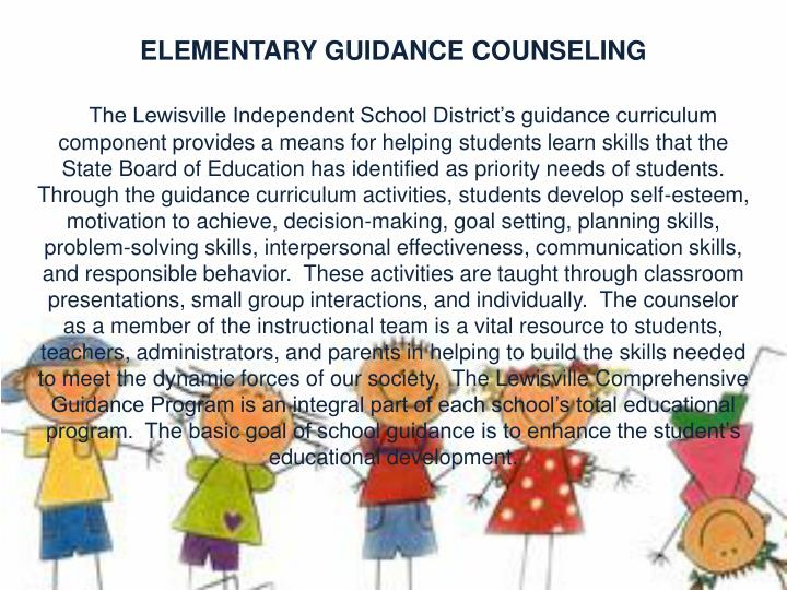 ELEMENTARY GUIDANCE COUNSELING