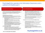 psychologyonline operates strict information governance and is audited to ig toolkit level 2