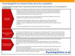 psychologyonline patient data security capability