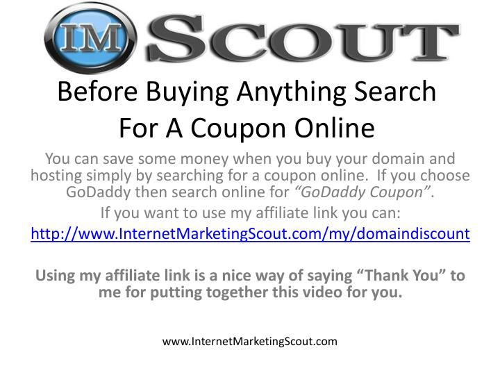 Before Buying Anything Search