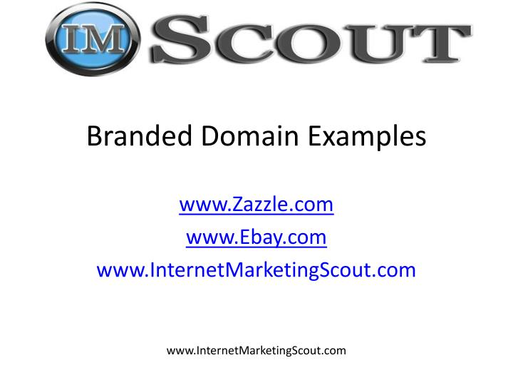 Branded Domain Examples