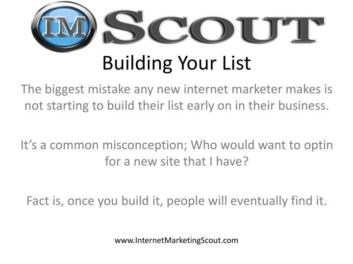 Building Your List