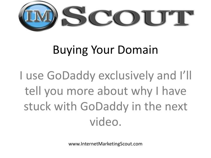 Buying Your Domain