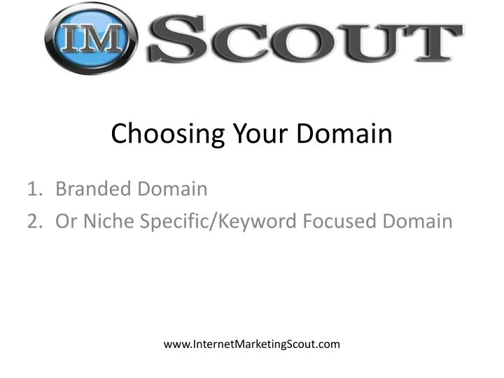 Choosing Your Domain