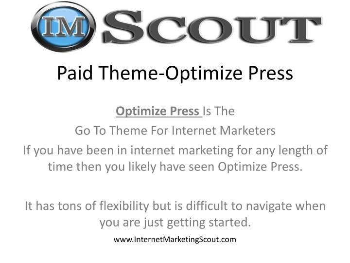 Paid Theme-Optimize Press