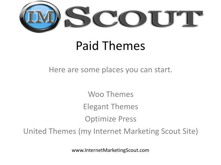 Paid Themes