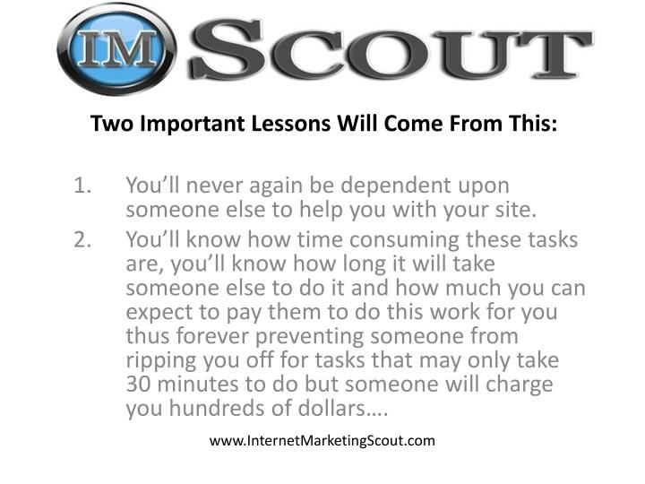 Two Important Lessons Will Come From This: