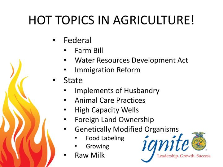 agriculture topics to write about