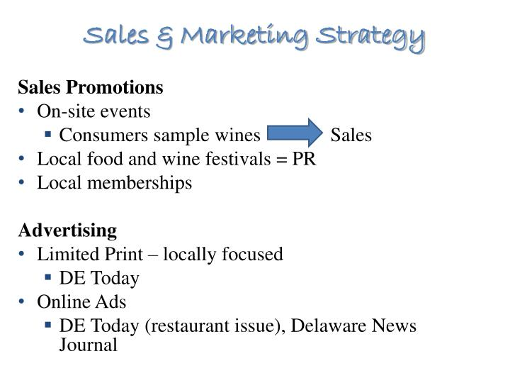 Sales & Marketing Strategy