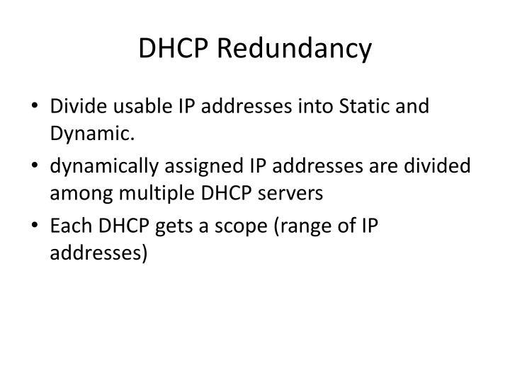 DHCP Redundancy