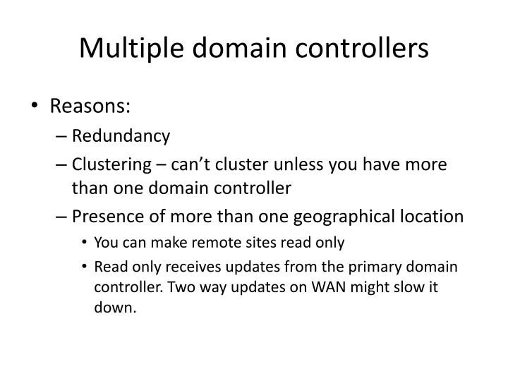 Multiple domain controllers