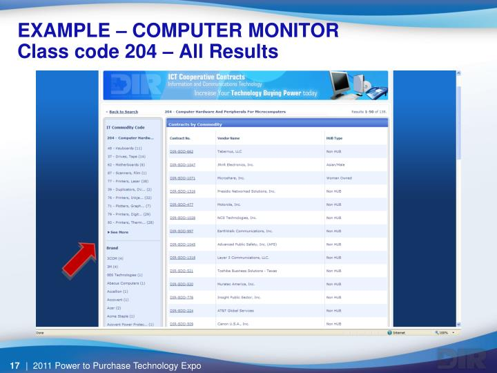 EXAMPLE – COMPUTER MONITOR