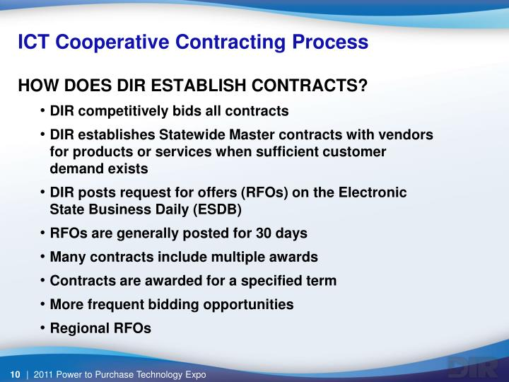 ICT Cooperative Contracting Process