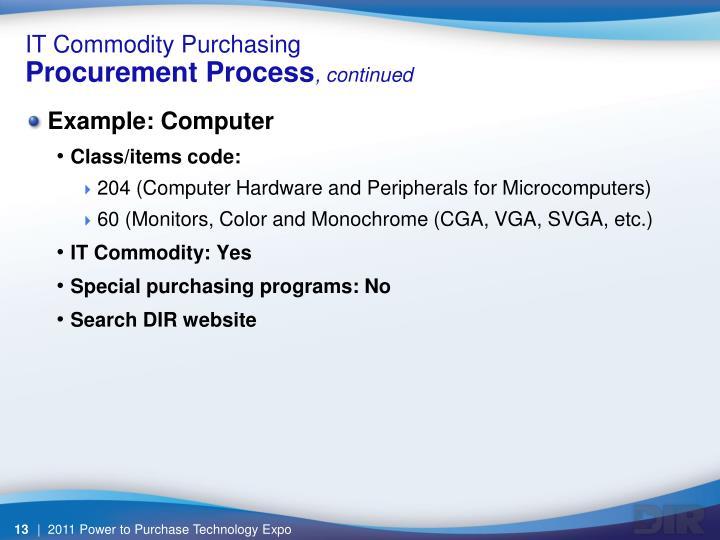 IT Commodity Purchasing