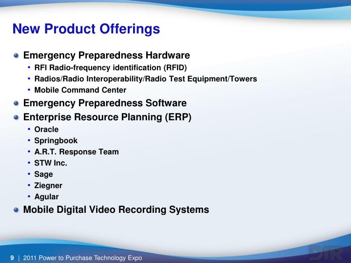 New Product Offerings