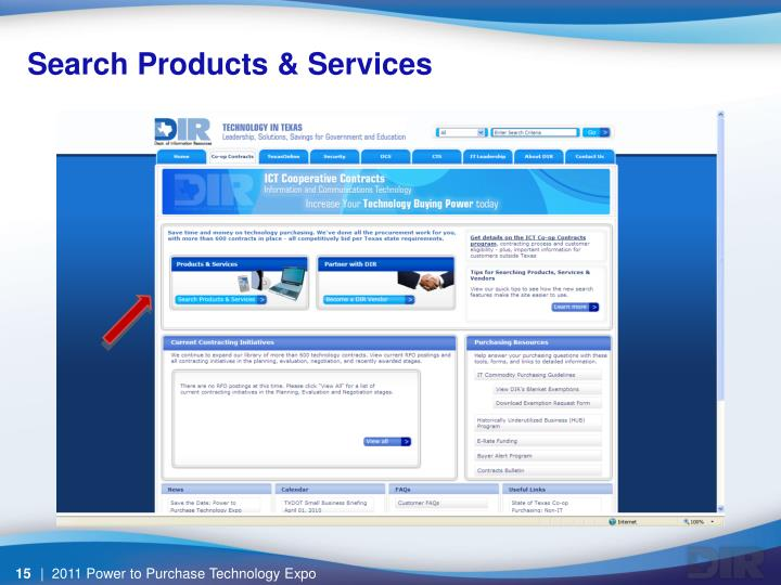 Search Products & Services