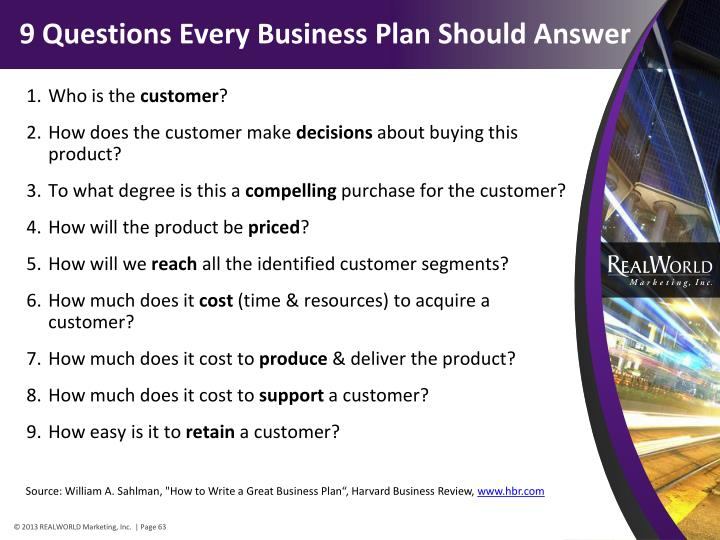 9 Questions Every Business Plan Should Answer
