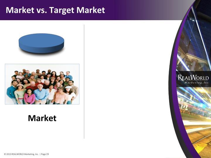 Market vs. Target Market