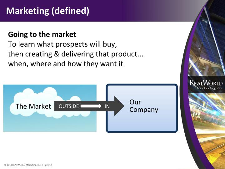 Marketing (defined)