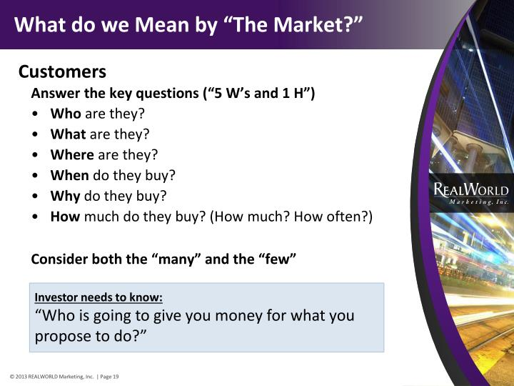 "What do we Mean by ""The Market?"""