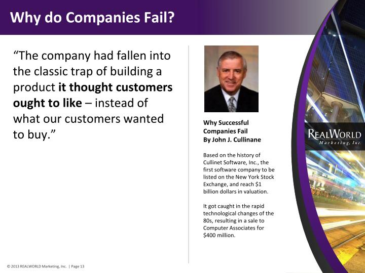 Why do Companies Fail?