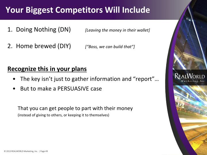 Your Biggest Competitors Will Include