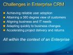 challenges in enterprise crm