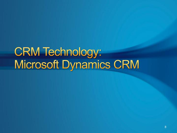 CRM Technology: