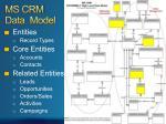 ms crm data model