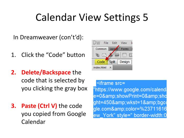 Calendar View Settings 5