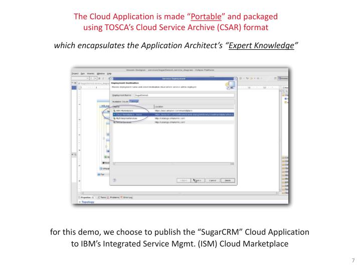 The Cloud Application is made ""