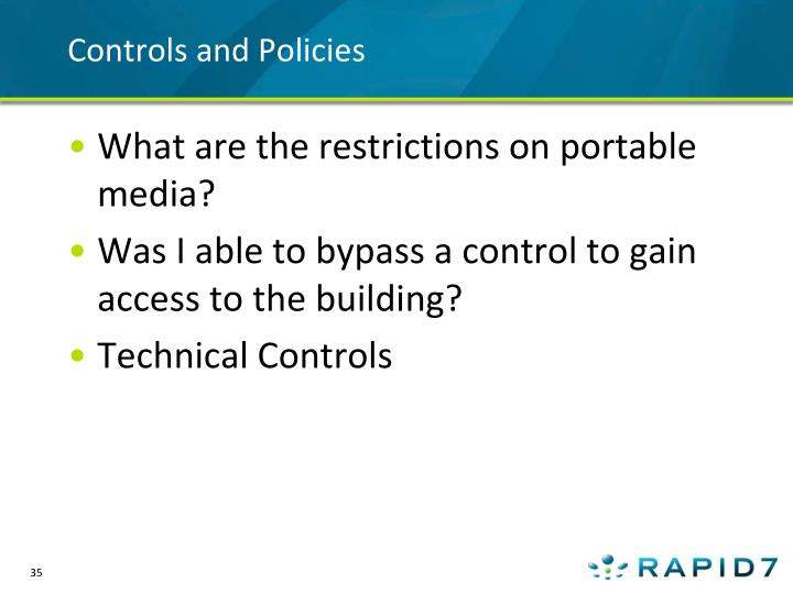 Controls and