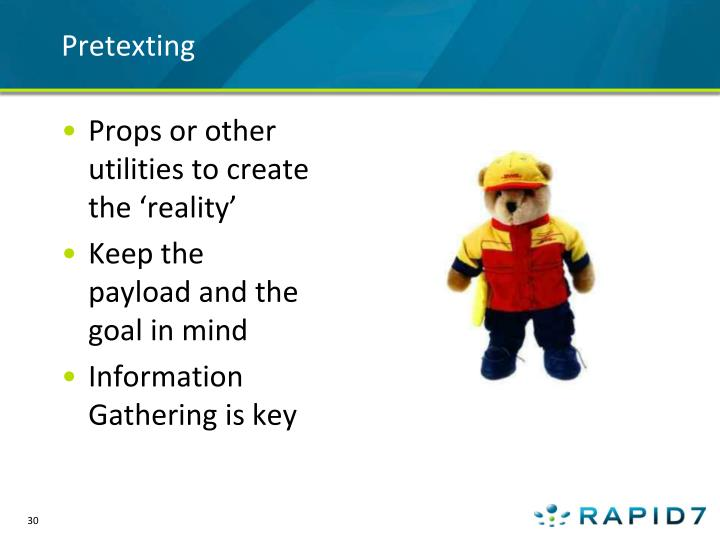 Pretexting
