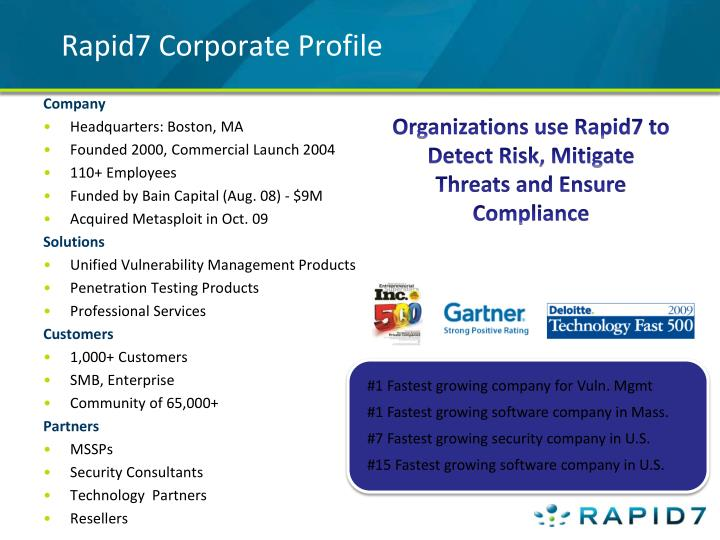Rapid7 corporate profile