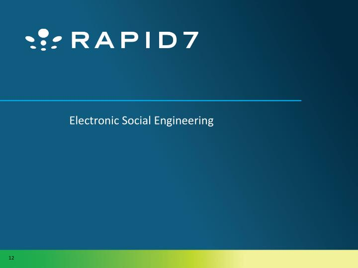 Electronic Social Engineering