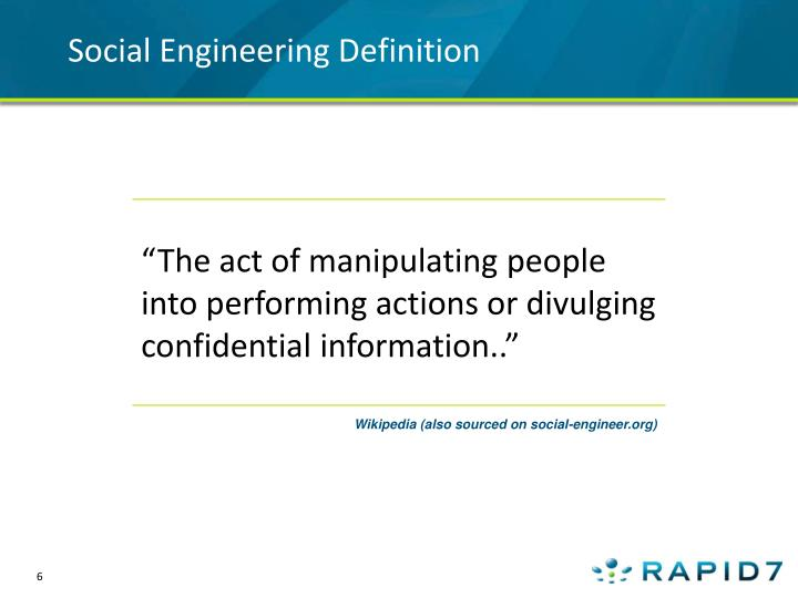 Social Engineering Definition