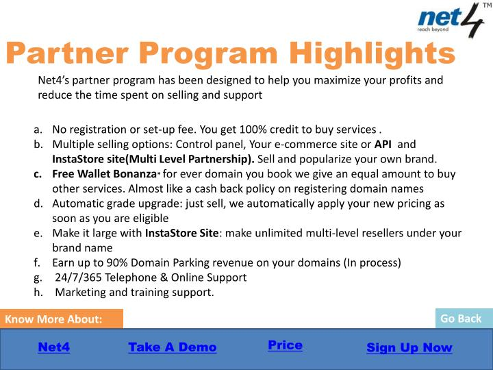 Partner Program Highlights