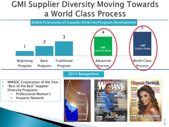 GMI Supplier Diversity Moving Towards a World Class Process