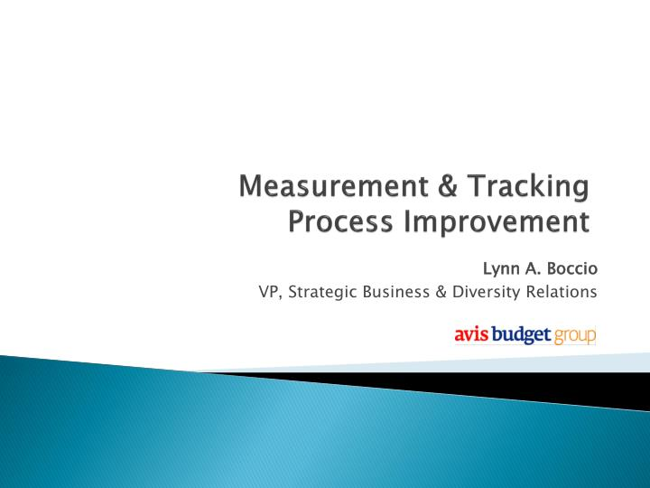 Measurement & Tracking