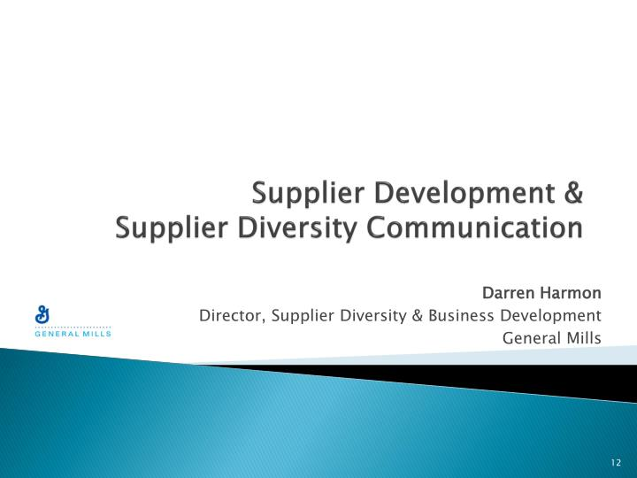Supplier Development &