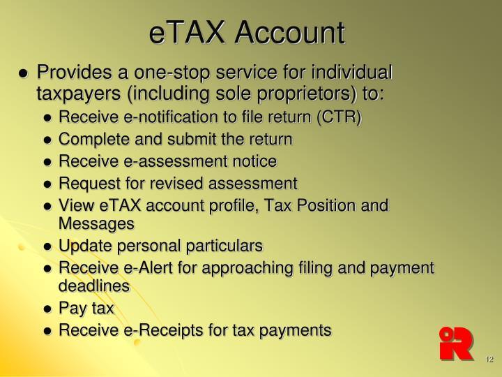 eTAX Account