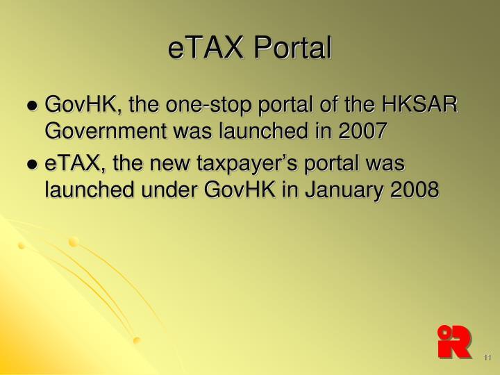eTAX Portal