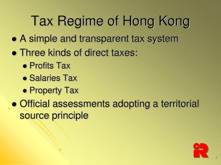 Tax Regime of Hong Kong