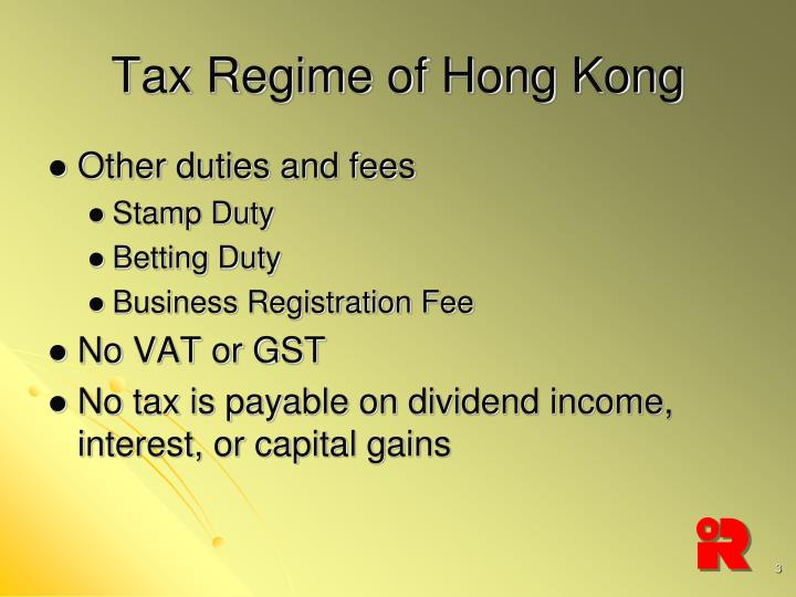 Tax regime of hong kong1
