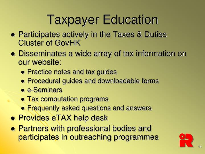 Taxpayer Education