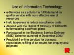 use of information technology