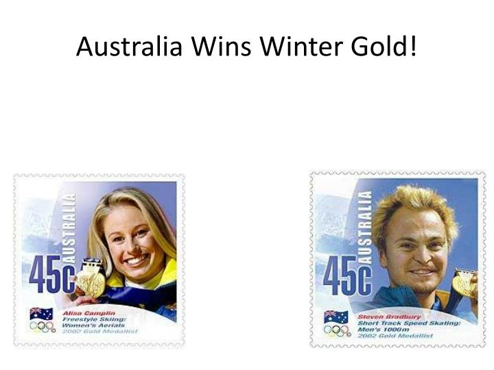 Australia Wins Winter Gold!