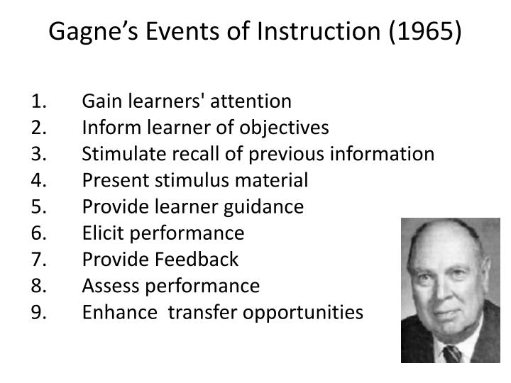 Gagne's Events of Instruction (1965)